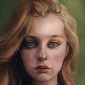 Диджитал портреты с элементами фэнтези